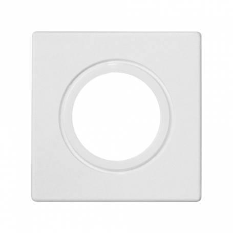 Placa embellecedora para entrada de tubo o prensaestopa de 22 mm de diámetro de 1 elemento blanco Simon K45