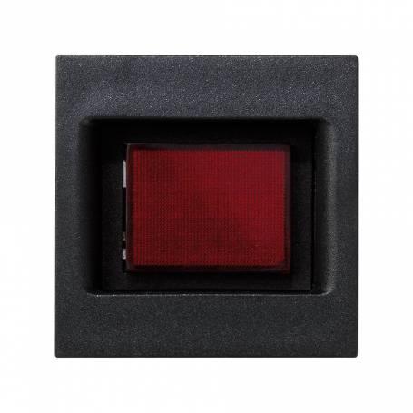 Placa embellecedora con indicador de tensión de 1 elemento grafito Simon K45