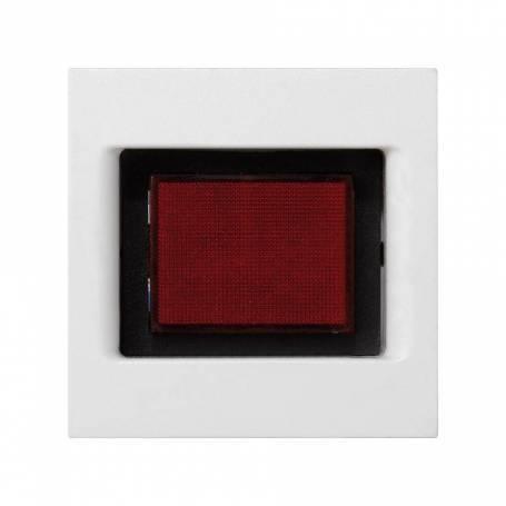 Placa embellecedora con indicador de tensión de 1 elemento blanco Simon K45