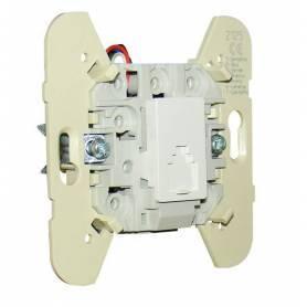 Toma Telefónica (4 Conductores para Conector RJ11) Blanco