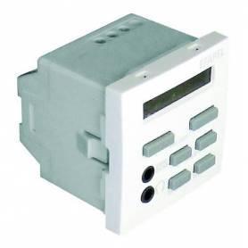 Mando de 1 Canal Estéreo con Sintonizador FM y Despertador - 2 Módulos Blanco Mate
