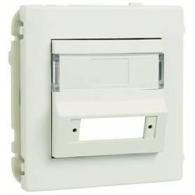 Tapa para Adaptador para Conectores de Fibra Óptica SC APC Duplex Blanco Mate