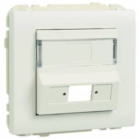 Tapa para Adaptador para Conectores de Fibra Óptica SC APC Simplex / LC Duplex Plata