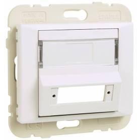 Tapa para Adaptador para Conectores de Fibra Óptica SC APC Duplex Marfil