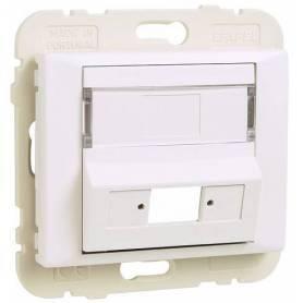 Tapa para Adaptador para Conectores de Fibra Óptica SC APC Simplex / LC Duplex Marfil