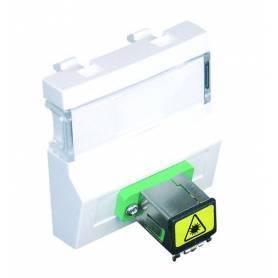 Módulo con Adaptador para Conectores de Fibra Óptica SC APC Simplex - 2 Módulos Aluminio