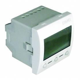 Termostato Digital con IR - 2 Módulos Blanco