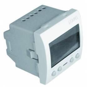 Interruptor Horario Digital de 2 Circuito - 2 Módulos Blanco Mate