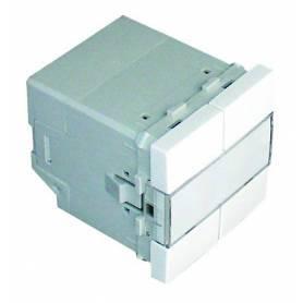 Pulsador Cuádruple (Muy Baja Tensión) - 2 Módulos Aluminio