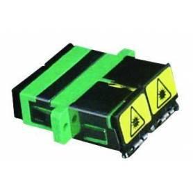 Adaptador para Conectores de Fibra Óptica SC APC Duplex