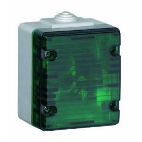 Señalizador Luminoso Bajo Blanco/Verde