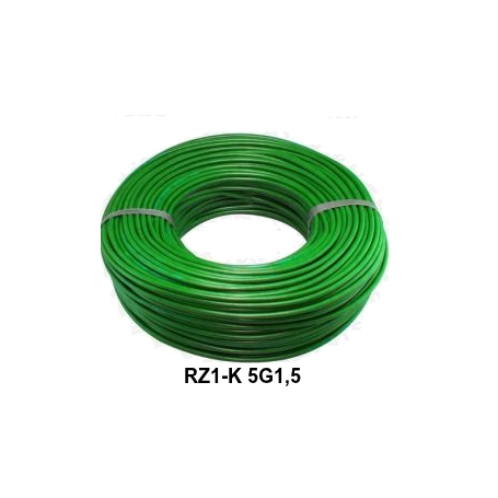 CABLE RZ1-K 5G1,5 LH VERDE