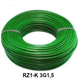 CABLE RZ1-K 3G1,5 LH VERDE
