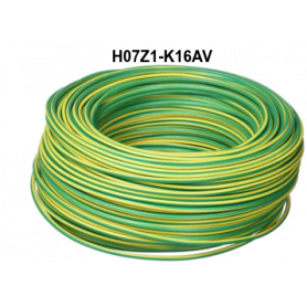 CABLE LH H07Z1-K 16 MM AMARILLO/VERDE