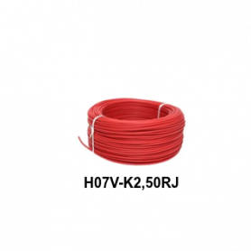CABLE FLEXIBLE H07V-K  2,50 MM ROJO