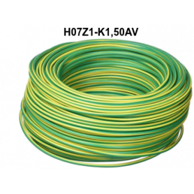 CABLE LH H07Z1-K 1,5 MM AMARILLO VERDE
