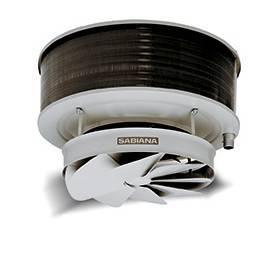 Aerotermo a agua Sabiana Comfort 6/8 polos,  solo calor para techo con proyección de aire vertical 48Z-515