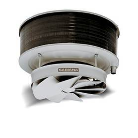 Aerotermo a agua Sabiana Comfort 6/8 polos,  solo calor para techo con proyección de aire vertical 48Z-722