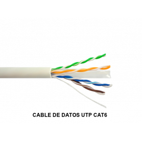 CABLE DE DATOS UTP CAT6 LSZH IKUSI BLANCO