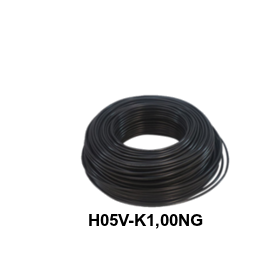 CABLE FLEXIBLE H05V-K 1,00 MM NEGRO