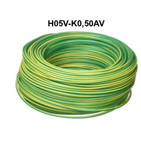 CABLE FLEXIBLE H05V-K 0,50 MM AMARILLO VERDE