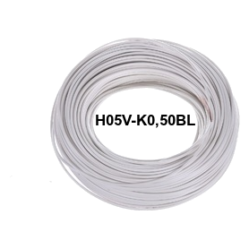 CABLE FLEXIBLE H05V-K 0,50 MM BLANCO