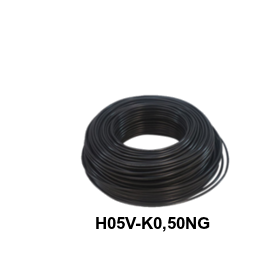 CABLE FLEXIBLE H05V-K 0,50 MM NEGRO