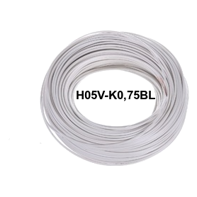 CABLE FLEXIBLE H05V-K 0,75 MM BLANCO