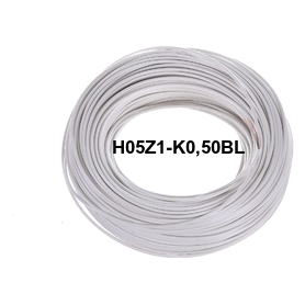 CABLE LH H05Z1-K 0,5 MM BLANCO