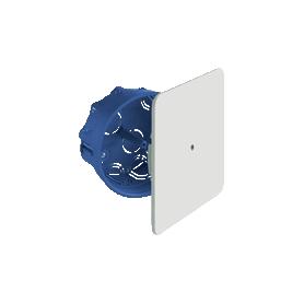 Caja de empalme y derivación empotrable en paredes y techos huecos Ø100x46