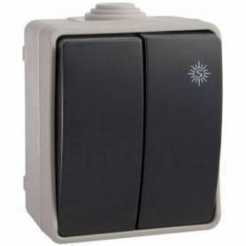 Doble conmutador con embornamiento de tornillo 65x80x55