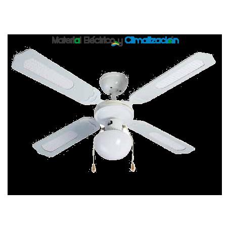 Ventilador 105 cm Ø blanco con luz