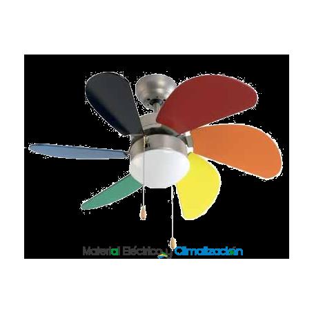 Ventilador 80 cm Ø de colores con luz