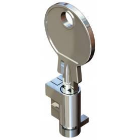 Bombín metálico con dos llaves