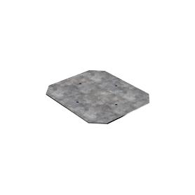Placa metálica para montaje especial con tornillos de fijación 150x130x1,5
