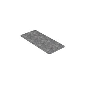 Placa metálica para montaje especial con tornillos de fijación 440x200x2