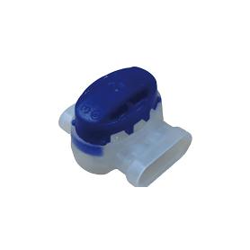 Conector de 3P 600V. Sección máxima 1,5 mm². Color azul.