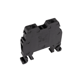 Borne para carril DIN. De Tornillo, neutro y fase. Negro. Sección 1,5 mm².