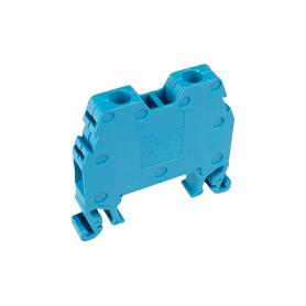 Borne para carril DIN. De Tornillo, neutro y fase. Azul. Sección 2,5 mm²