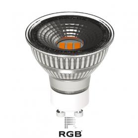 Dicroica LED GU10 SILVER 5W SMD 430Lm 100° NEUTR Marca Rgb Led