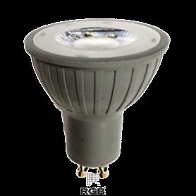 Dicroica LED GU10 GREY 7W SMD 220V 560Lm 35° FRÍO Marca Rgb Led