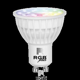 Lámpara GU10 SMART 4W RGB+CCT 280Lm 25° IP20 Marca Rgb Led