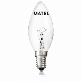 Bombilla Vela Incandescente CLARA E-14  40w Marca Matel