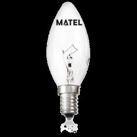 Bombilla Vela Incandescente CLARA E-14  60w Marca Matel