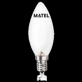 Bombilla Vela Incandescente MATE E-14  60w Marca Matel