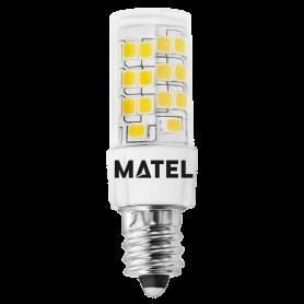 Bombilla Led Tubular E14 5w. 360º FRIA Marca Matel