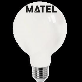 Bombilla led Filamento G 95 E27    8w OPAL FRIA Marca Matel