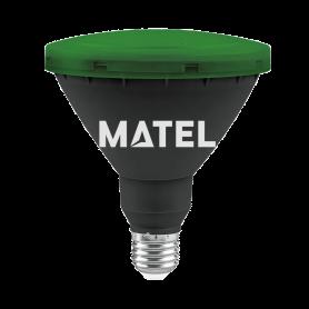 Bombilla Led PAR 38 IP65 E27 15w. VERDE Marca Matel