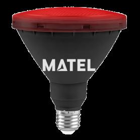 Bombilla Led PAR 38 IP65 E27 15w ROJA Marca Matel