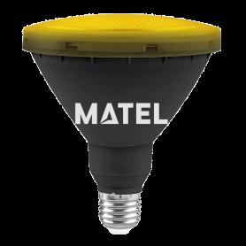Bombilla Led PAR 38 IP65 E27 15w AMARILLA Marca Matel